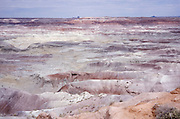scenic overhead view of Painted Desert canyon
