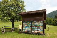 Local beekeeper Darko, with his hives at Begunje, near Radovljica, Slovenia © Rudolf Abraham