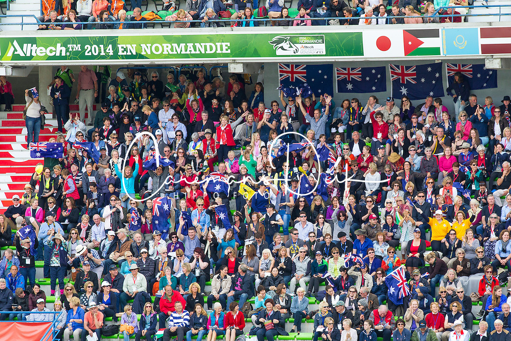 Supporters AUS - Grand Prix Special Dressage - Alltech FEI World Equestrian Games™ 2014 - Normandy, France.<br /> © Hippo Foto Team - Leanjo de Koster<br /> 25/06/14