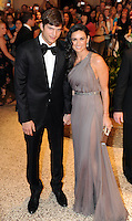 Ashton Kutcher and Demi Moore arrive for the White House Correspondents Dinner in Washington, DC