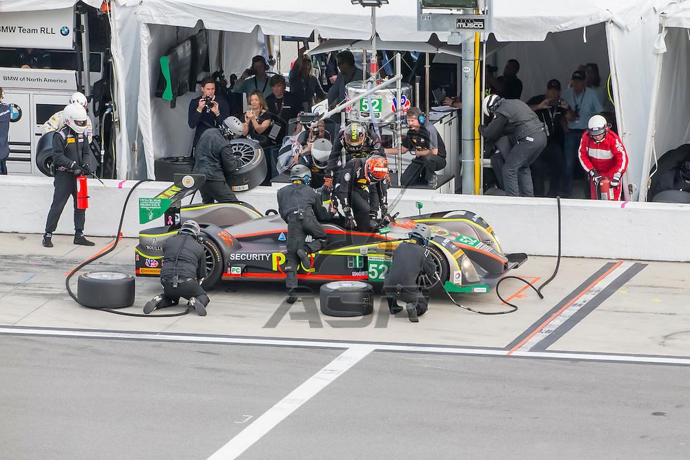 Daytona Beach, FL - Jan 30, 2016:  The IMSA WeatherTech Sportscar Championship teams take to the track for the Rolex 24 at Daytona at Daytona International Speedway in Daytona Beach, FL.