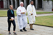 08/07/2018  repro  free:  The Rev. Helen Freeburn , Canon Peter Rabbitte and Mr. Khalid Sallabi  at The National Day of Commemoration Ceremony at NUI Galway in honour of all those Irishmen and Irish Women whooped in pastors or on Service with the UN.Photo:Andrew Downes, XPOSURE