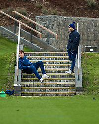 Ioan Lloyd and Harry Randall of Bristol Bears in action during a training session - Rogan/JMP - 04/03/2021 - RUGBY UNION - Bristol Bears High Performance Centre - Bristol, England.