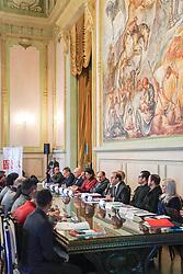 Delegação do Grupo Temático Ampliado da ONU sobre HIV e AIDS (GT UNAIDS) reuniu  cerca de 60 gestores da área de saúde do RS para sua a 2a reunião de 2018, desta vez realizada no Palácio Piratini, sede do governo do Rio Grande do Sul. O governador do estado, José Ivo Sartori, participou da cerimônia de abertura dos trabalhos. FOTO:  UNFPA Brasil/Jefferson Bernardes
