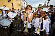 Ouro Preto_MG, Brasil...Bloco Bandalheira Mirim na  Praca Tiradentes no carnaval de Ouro Preto...The Bandalheira Mirin block in the Tiradentes square in Ouro Preto...Foto: LEO DRUMOND /  NITRO
