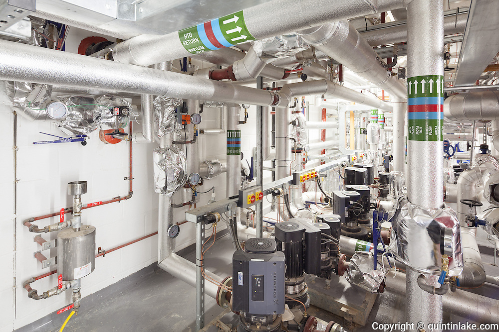 Plant room. Pembroke College, New Build on completion March 2013. Oxford, UK