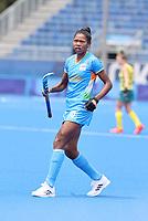 TOKIO -  Salima Tete (IND)  tijdens de hockeywedstrijd in de kwartfinale wedstrijd dames , Australie-India (0-1),   tijdens de Olympische Spelen van Tokio 2020. India plaats zich voor de halve finale.  COPYRIGHT KOEN SUYK