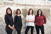 BIRMINGHAM, AL – SEPTEMBER 4, 2019: Portrait of Eleni Shipp, Nina McKinney, Melissa Baker and Elizabeth Stewart.