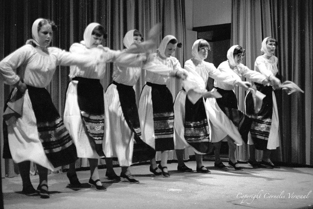 Folk dance performance in Het Gebouw in Ammerstol, Holland.