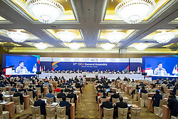 JAKARTA, Aug. 19,2018  The 37th Olympic Council of Asia (OCA) General Assembly is held in Jakarta, Indonesia, on Aug. 19, 2018. (Credit Image: © Cheong Kam Ka/Xinhua via ZUMA Wire)