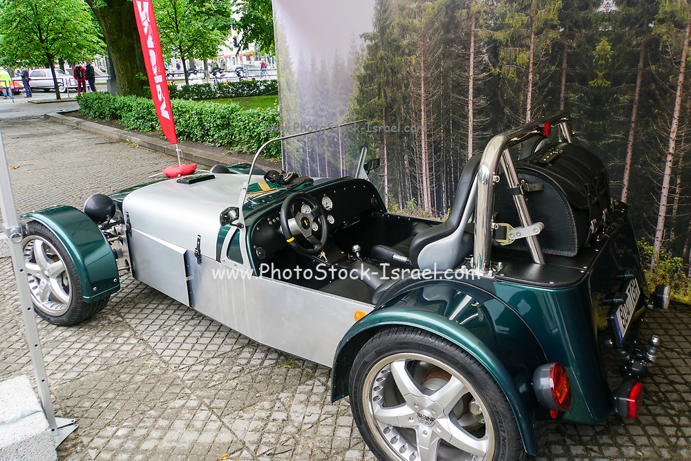 Home made car on display at the start of the Riga to Mykonos Gumball 3000 Rally, Riga, Latvia