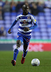 """Reading's Sone Aluko during the Sky Bet Championship match between Reading and Queens Park Rangers. PRESS ASSOCIATION Photo. Picture date:  Tuesday October 2, 2018. See PA story SOCCER Reading. Photo credit should read: Andrew Matthews/PA Wire. RESTRICTIONS: EDITORIAL USE ONLY No use with unauthorised audio, video, data, fixture lists, club/league logos or """"live"""" services. Online in-match use limited to 120 images, no video emulation. No use in betting, games or single club/league/player publications"""