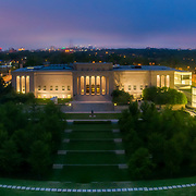 Aerial view of the Nelson Atkins Museum of Art in Kansas City, Missouri.