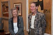 GAY HUTSON; ANGELA WYNN; , 20/21 British Art Fair. Celebrating its 25 Anniversary. The Royal College of Art . Kensington Gore. London. 12 September 2012.