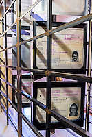 Race classification was the foundation of apartheid laws. It placed individuals in one of four groups: African (Bantu), coloured, Asian or White. Identity documents were used to implement this racial divide. Apartheid Museum, Johannesburg, South Africa.
