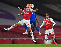 Football - 2019 / 2020 Premier League - Arsenal vs. Leicester City<br /> <br /> Arsenal's Granit Xhaka battles for possession with Leicester City's Demarai Gray, at the Emirates Stadium.<br /> <br /> COLORSPORT/ASHLEY WESTERN