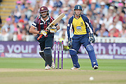 Shahid Afridi during the NatWest T20 Blast semi final match between Northamptonshire County Cricket Club and Warwickshire County Cricket Club at Edgbaston, Birmingham, United Kingdom on 29 August 2015. Photo by David Vokes.