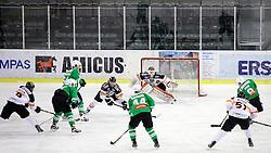 29.01.2017, Hala Tivoli, Ljubljana, SLO, EBEL, HDD Olimpija Ljubljana vs Moser Medical Graz 99ers, Platzierungsrunde, im Bild Sebastian Dahm of Graz 99ers and Nik Pem of Olimpija // during the Erste Bank Icehockey League placement round match between HDD Olimpija Ljubljana and Moser Medical Graz 99ers at the Hala Tivoli in Ljubljana, Slovenia on 2017/01/29. EXPA Pictures © 2017, PhotoCredit: EXPA/ Sportida/ Morgan Kristan<br /> <br /> *****ATTENTION - OUT of SLO, FRA*****