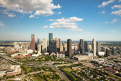 Aerial view of downtown Houston,Texas skyline.