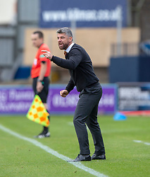 Motherwell's manager Stephen Robinson. Dundee 1 v 3 Motherwell, SPFL Ladbrokes Premiership game played 1/9/2018 at Dundee's Kilmac stadium Dens Park