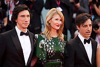 Venice, Italy, 29th August 2019, Adam Driver, Laura Dern, Director Noah Baumbach at the gala screening of the film Marriage Story  at the 76th Venice Film Festival. Doreen Kennedy / Alamy Live News