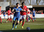 Wimbledon defender BARRY FULLER during the Sky Bet League 2 match between AFC Wimbledon and York City at the Cherry Red Records Stadium, Kingston, England on 7 March 2015.