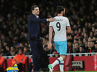 Football - 2016 / 2017 Premier League - Arsenal vs. West Ham United<br /> <br /> West ham Manager Slaven Bilic gives Andy Carroll a pat on the back as he is substituted at The Emirates.<br /> <br /> COLORSPORT/ANDREW COWIE