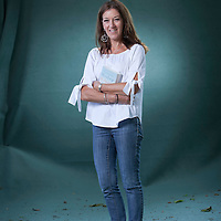 Victoria Hislop, the English author, writer, novelist, at the Edinburgh International Book Festival 2015. Edinburgh, Scotland. 23rd August 2015 <br /> <br /> Photograph by Gary Doak/Writer Pictures<br /> <br /> WORLD RIGHTS