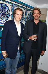 Left to right, TOM PARKER BOWLES and BEN ELLIOT at the No Campaign's Summer Party - a celebration of the 'Non' and 'Nee' votes in the Europen referendum in France and The Netherlands held at The Peacock House, 8 Addison Road, London W14 on 5th July 2005.<br />
