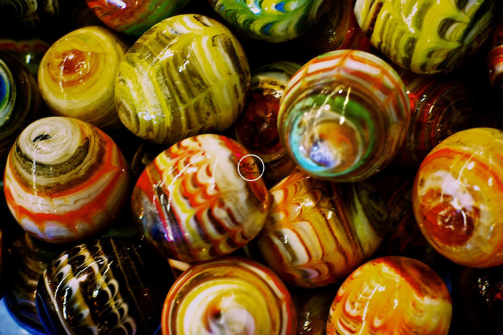 Multi-colored glass beads