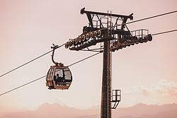 THEMENBILD - Gondel mit Seil und Liftstütze auf der Schmitten, aufgenommen am 30. Juli 2020 in Zell am See, Österreich // Gondola with rope and lift support on the Schmitten, Zell am See, Austria on 2020/07/30. EXPA Pictures © 2020, PhotoCredit: EXPA/ JFK