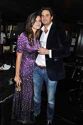 LADY NATASHA RUFUS-ISAACS and her fiance RUPERT FINCH at the launch of Beulah's collaboration with Hennessy Gold Cup and a preview of the SS13 Collection held at The Brompton Club, 92b Old Brompton Road, London SW7 on 18th October 2012.