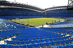A general view of the Etihad Stadium ahead of the match
