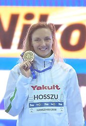 HANGZHOU, Dec. 15, 2018  Katinka Hosszu of Hungary poses with medal during the awarding ceremony of Women's 200m Individual Medley Final at 14th FINA World Swimming Championships (25m) in Hangzhou, east China's Zhejiang Province, on Dec. 15, 2018. Katinka Hosszu claimed the title with 2:03.25. (Credit Image: © Xinhua via ZUMA Wire)