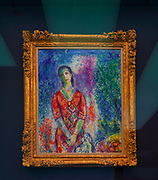 Marc Chagall (1887 - 1985)  Portrait of E.B.G., 1969, Oil on canvas, 92.5 × 73.5 cm from The Goulandris Museum of Contemporary Art is a modern art museum in Eratosthenous Street, Pangrati, Athens, Greece, opened in October 2019.