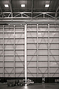 One of the massive hangar doors at Delta's  Technical Operations Center, at Atlanta's Hartsfield-Jackson International Airport.  <br /> <br /> Created by aviation photographer John Slemp of Aerographs Aviation Photography. Clients include Goodyear Aviation Tires, Phillips 66 Aviation Fuels, Smithsonian Air & Space magazine, and The Lindbergh Foundation.  Specialising in high end commercial aviation photography and the supply of aviation stock photography for advertising, corporate, and editorial use.