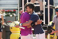 Spanish Rafa Nadal and serbian Novak Djokovic during Mutua Madrid Open Tennis 2017 at Caja Magica in Madrid, May 13, 2017. Spain.<br /> (ALTERPHOTOS/BorjaB.Hojas)