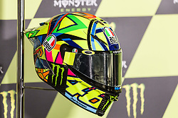 June 8, 2017 - Barcelona, Spain - MotoGP, Valentino Rossi(Ita), Movistar Yamaha Motogp Team helmet during the press conference of MotoGp Grand Prix Monster Energy of Catalunya, in Barcelona-Catalunya Circuit, Barcelona on 8th June 2017 in Barcelona, Spain. (Credit Image: © Urbanandsport/NurPhoto via ZUMA Press)