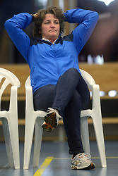 17-03-2013 VOLLEYBAL: EK KWALIFICATIE NEDERLAND - SLOWAKIJE: AMSTELVEEN<br /> Het Nederlands politieteam plaatst zich voor het EK door Slowakije met 3-0 te verslaan / Bondscoach Vera Koenen<br /> ©2013-FotoHoogendoorn.nl