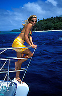 Sailing in the Vava'u islands, Tonga.To use this image please contact Getty Images. Getty #200135006-001