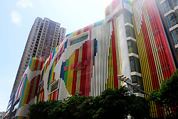 August 29, 2017 - Chongqin, Chongqin, China - Chongqing, CHINA-29th August 2017: (EDITORIAL USE ONLY. CHINA OUT) ..The eye-catching building with colorful stripes can be seen in southwest China's Chongqing. (Credit Image: © SIPA Asia via ZUMA Wire)