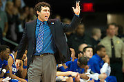 DALLAS, TX - FEBRUARY 01: Memphis Tigers head coach Josh Pastner has words with an official against the SMU Mustangs on February 1, 2014 at Moody Coliseum in Dallas, Texas.  (Photo by Cooper Neill/Getty Images) *** Local Caption *** Josh Pastner