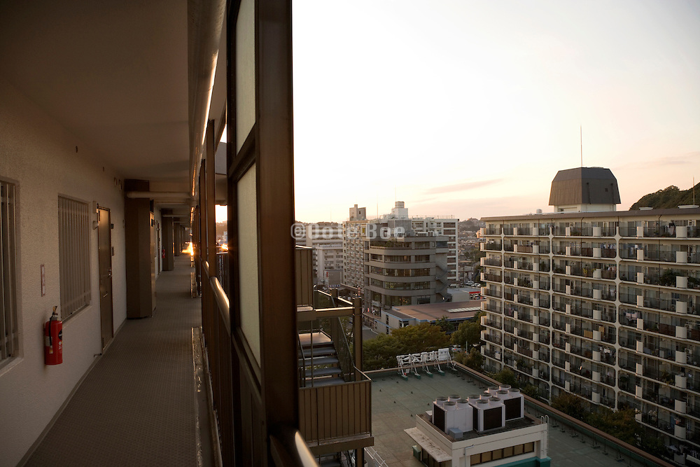 residential high rise apartment building in Yokohama Japan