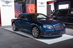 NEW YORK, USA - MARCH 23, 2016: Bentley Continental convertible on display during the New York International Auto Show at the Jacob Javits Center.