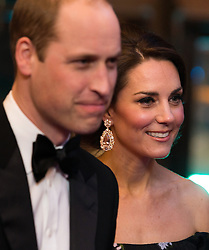 The Duke and Duchess of Cambridge attend The BAFTA Film Awards 2017 at The Royal Albert Hall, London, UK, on the 12th February 2017. Picture by Daniel Leal-Olivas/WPA-Pool. 12 Feb 2017 Pictured: Prince William, Duke of Cambridge, Catherine, Duchess of Cambridge, Kate Middleton. Photo credit: MEGA TheMegaAgency.com +1 888 505 6342