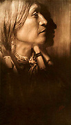 Native American Indian: A Jicarilla chief, c1904.  Photograph by Edward Curtis (1868-1952).