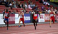 Friidrett<br /> EM 2014 Zürich Sveits<br /> 12.08.2014<br /> Foto: imago/Digitalsport<br /> NORWAY ONLY<br /> <br /> Jaysuma Saidy Ndure (NOR), Jan Veleba (CZE), Reto Amaru Schenkel (SUI) und Kevin Moore (MLT) <br /> 800 meter forsøk menn