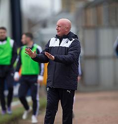Falkirk's manager Peter Houston. <br /> Raith Rovers 2 v 2 Falkirk, Scottish Championship game played 23/4/2016 at Stark's Park.