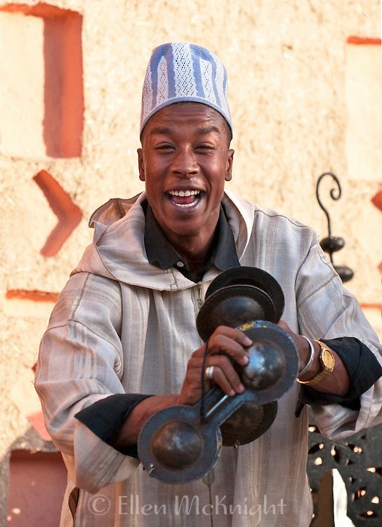 Moroccan man entertaining