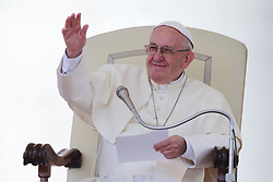 April 25, 2018  - Vatican City State (Holy See)  POPE FRANCIS during his Wednesday general audience in St. Petr's Square at the Vatican  (Credit Image: © Evandro Inetti via ZUMA Wire)